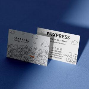 Visitkort design til virksomheder sendt direkte til din dør