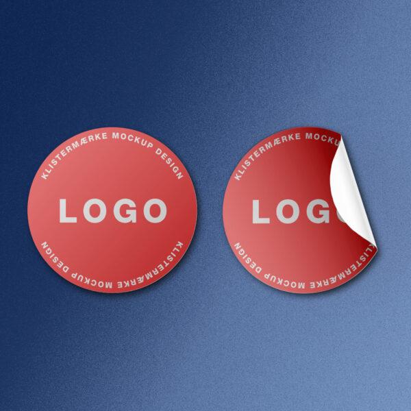 design af klistermærker med logo til firmaer